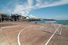 Free Wooden Soccer Field At  Panyee Island, Thailand. Royalty Free Stock Photography - 18974957