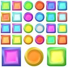 Free Icons Buttons, Set Royalty Free Stock Photo - 18975015