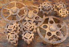 Free Mechanism Of Gears Rusted Royalty Free Stock Photography - 18975097