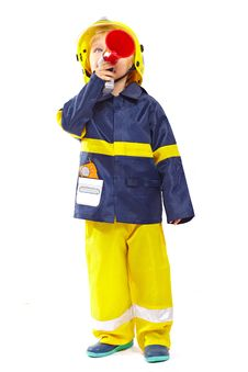 Free Little Boy In Fireman Costume Stock Images - 18975874