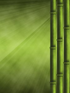 Free Background With Bamboo Royalty Free Stock Images - 18976299