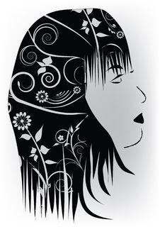 Free Beautiful Womans Profil Stock Photography - 18976822