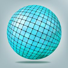 Free Abstract Blue Background With Disco Ball. EPS 8 Stock Images - 18976894
