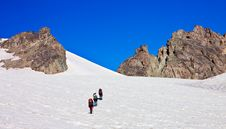 Free Climbers In The Snowy Mountains Stock Photo - 18977020