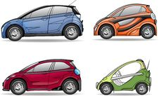 Free Color Cars Set Royalty Free Stock Image - 18977366