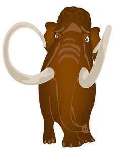 Free Extinct Prehistorical Animal Mammoth Royalty Free Stock Images - 18978889