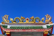 Asian Temple Dragon Royalty Free Stock Images