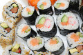 Free Different Types Of Maki Sushi In Sushi Set Stock Photo - 18989160