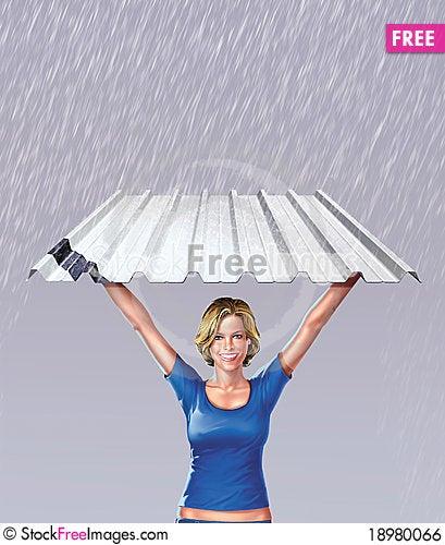 Free Steel Aluminum Shining Aluminum And Woman Royalty Free Stock Image - 18980066