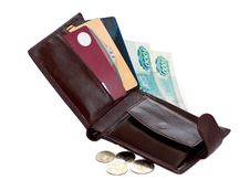 Free Open Wallet With Money And Credit Cards Stock Photo - 18980270