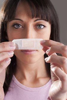 Free Applying Bandage On Nose Royalty Free Stock Photography - 18980457