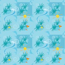 Seamless Summer Pattern Royalty Free Stock Images