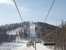 Free Ski Lift. Royalty Free Stock Photos - 18981278