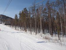 Free Ski Lift. Royalty Free Stock Images - 18981279