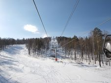 Free Ski Lift. Stock Images - 18981284