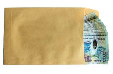 Free Kazakh Money In Envelope Royalty Free Stock Photography - 18982167