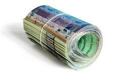 Free Roll Of 10000 Tenge Royalty Free Stock Image - 18982176