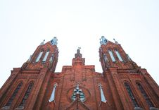 Ancient Catholic Cathedral Stock Photos