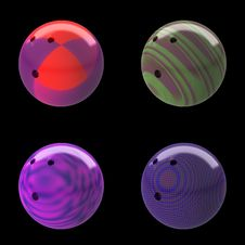 Free Ten Pin Bowling Balls In Different Colors Stock Images - 18983704