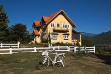Free Yellow Classic House On Hill In Pai District Stock Image - 18983731
