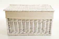 Closed Basket On White Royalty Free Stock Photo