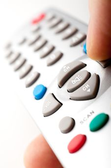 Free Remote Control In A Hand Royalty Free Stock Image - 18983876