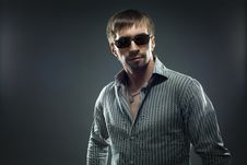 Free Portrait Of Handsome Young Man In Sundglasses Stock Photo - 18984850