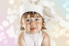 Free Young And Pretty Little Cook Stock Photo - 18984930