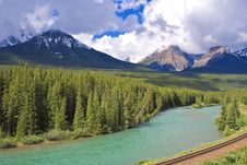 Approaching Storm, Bow River Valley, Banff N.p. Royalty Free Stock Image
