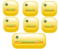 Free Web Buttons, Cdr Vector Royalty Free Stock Photography - 18985397