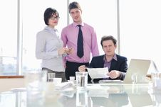 Free Group Of Business People At Meeting Royalty Free Stock Images - 18985459