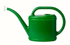 Free Green Plastic Watering Can. Stock Photos - 18985483