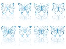 Free Blue Butterflies. Stock Image - 18985541
