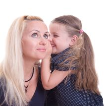 Free Daughter Whispering Royalty Free Stock Photo - 18985805