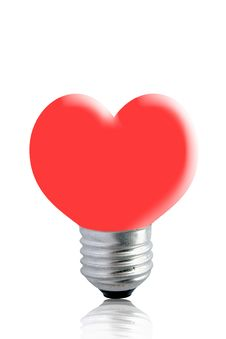 Free Lamp With A Red Heart Royalty Free Stock Photos - 18986188