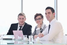Free Group Of Business People At Meeting Stock Image - 18986321