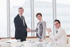 Free Group Of Business People At Meeting Royalty Free Stock Images - 18986819