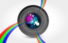 Free Camera Lens Rainbow Light Royalty Free Stock Photos - 18987288