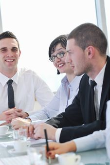 Free Group Of Business People At Meeting Stock Photo - 18987550
