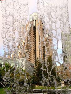 Free San Francisco Hotel Through Waterfall Stock Photos - 18988433