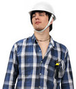 Free Young Worker Isolated With Wire-cutters In Pocket Royalty Free Stock Photos - 18996548