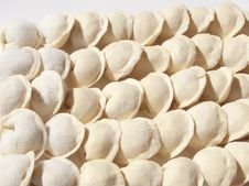 Free Dumplings Hand Sculpting Royalty Free Stock Photography - 18990027