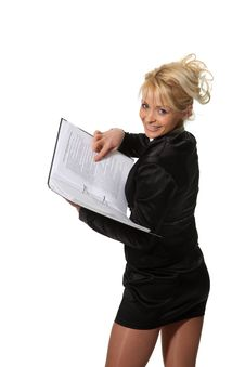 Free Businesswoman With A File Stock Photo - 18990210