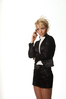Free Businesswoman Speak Phone Stock Photo - 18990220