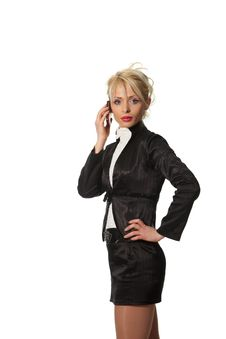 Free Businesswoman Speak Phone Stock Image - 18990221