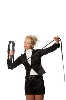 Free Businesswoman With A Leash Royalty Free Stock Photo - 18990225