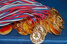 Free Many Gold Medals Royalty Free Stock Photos - 18990998