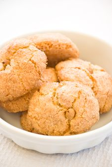 Italian Almond Cookies Stock Photos
