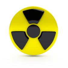 Radiation Sign Over White Background Royalty Free Stock Image