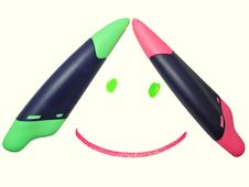 Free Markers Smile Royalty Free Stock Images - 18991369